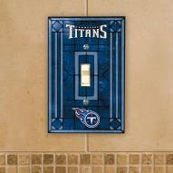 Tennessee Titans Glass Single Light Switch Plate Cover