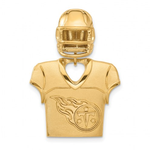 Tennessee Titans Gold Plated Jersey & Helmet Pendant