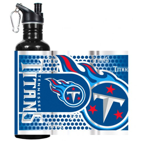 Tennessee Titans Hi-Def Black Stainless Steel Water Bottle