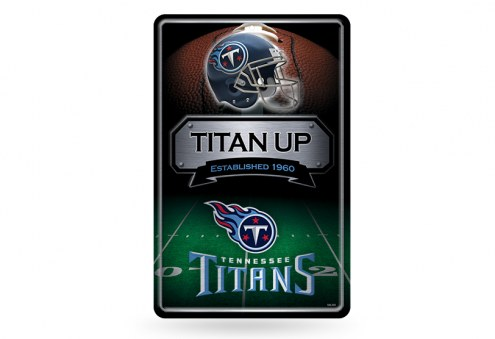 Tennessee Titans Large Embossed Metal Wall Sign