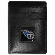 Tennessee Titans Leather Money Clip/Cardholder in Gift Box