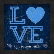 Tennessee Titans Love My Team Color Wall Decor