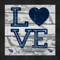 Tennessee Titans Love My Team Square Wall Decor