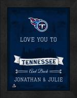 Tennessee Titans Love You to and Back Framed Print
