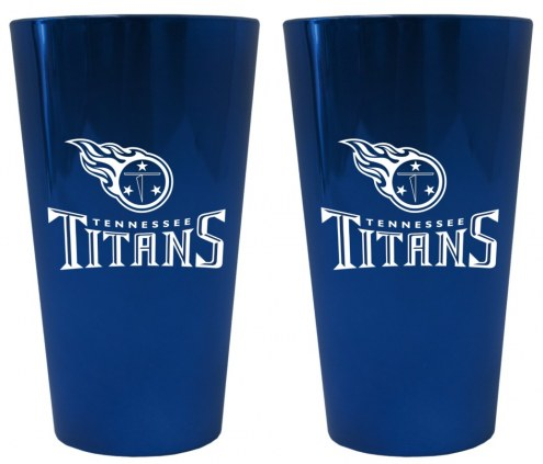 Tennessee Titans Lusterware Pint Glass - Set of 2