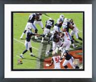 Tennessee Titans Marcus Mariota First NFL Touchdown Pass Framed Photo