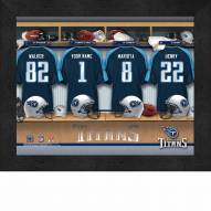 Tennessee Titans NFL Personalized Locker Room 11 x 14 Framed Photograph