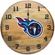 Tennessee Titans Oak Barrel Clock