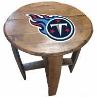 Tennessee Titans Oak Barrel Table