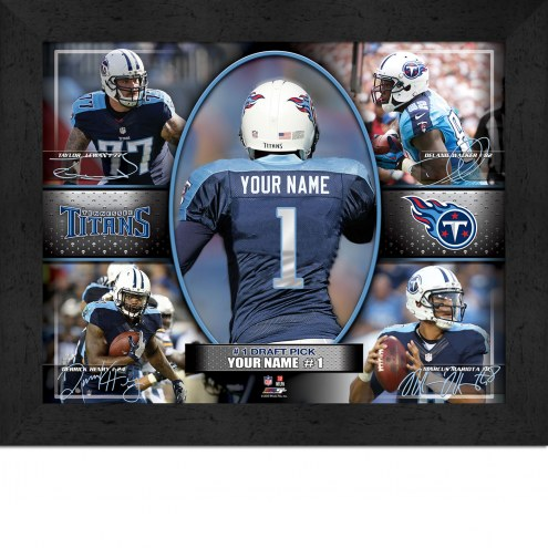 Tennessee Titans Personalized 11 x 14 Framed Action Collage