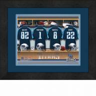 Tennessee Titans Personalized Locker Room 13 x 16 Framed Photograph