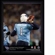 Tennessee Titans Personalized 11 x 14 NFL Action QB Framed Print