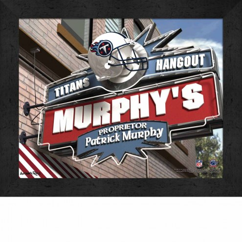 Tennessee Titans Personalized Framed Sports Pub Print