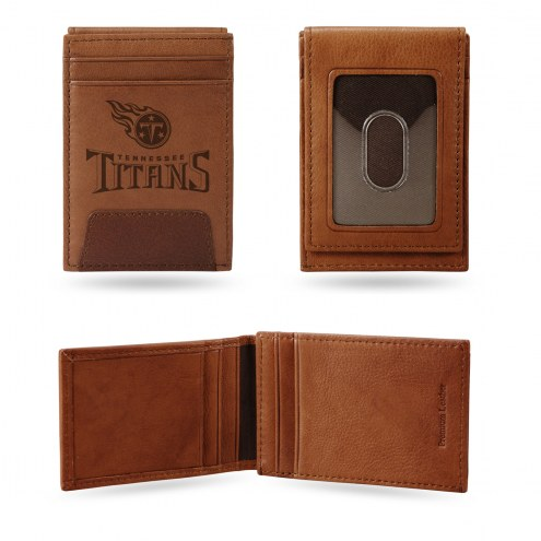 Tennessee Titans Premium Leather Front Pocket Wallet