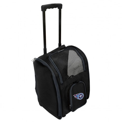 Tennessee Titans Premium Pet Carrier with Wheels