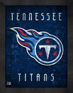 Tennessee Titans Retro Logo Map Framed Print