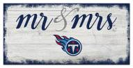Tennessee Titans Script Mr. & Mrs. Sign