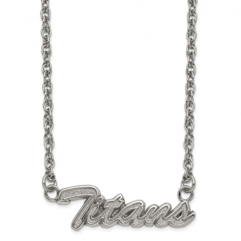 Tennessee Titans Stainless Steel Script Necklace