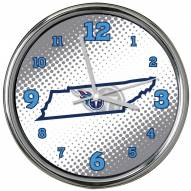 Tennessee Titans State of Mind Chrome Clock