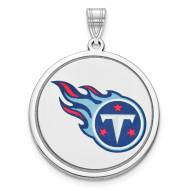 Tennessee Titans Sterling Silver Disc Pendant
