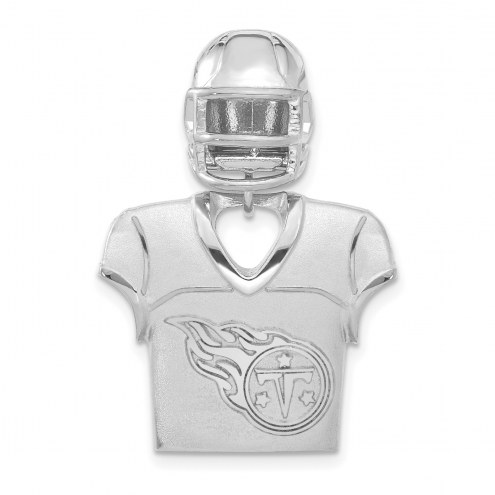 Tennessee Titans Sterling Silver Jersey & Helmet Pendant