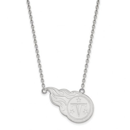Tennessee Titans Sterling Silver Large Pendant with Necklace