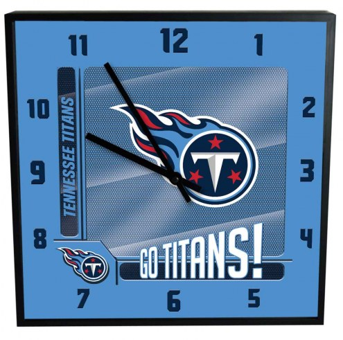 Tennessee Titans Team Black Square Clock