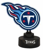 Tennessee Titans Team Logo Neon Light