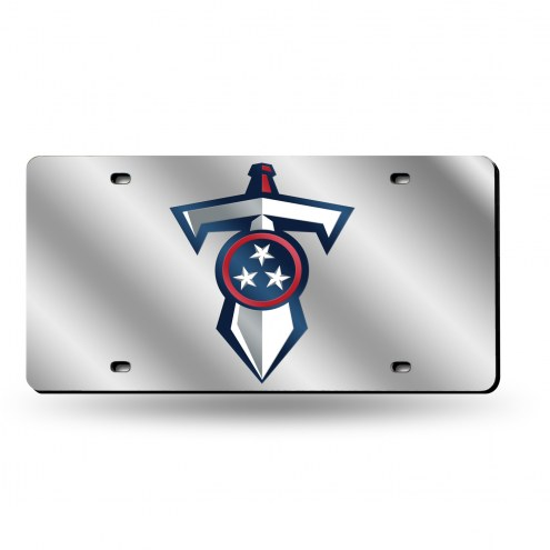 Tennessee Titans Team Silver Laser License Plate