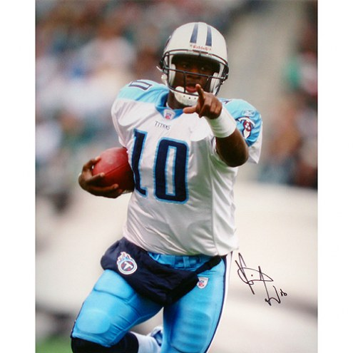 "Tennessee Titans Vince Young Close Up Signed 16"" x 20"" Photo"