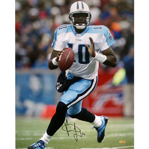 """Tennessee Titans Vince Young vs. Buffalo Signed 16"""" x 20"""" Photo"""
