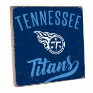 Tennessee Titans Vintage Square Wall Sign