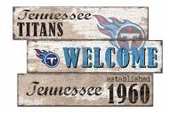 Tennessee Titans Welcome 3 Plank Sign