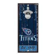 Tennessee Titans Wood Bottle Opener