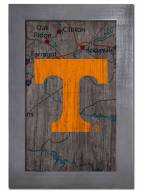"""Tennessee Volunteers 11"""" x 19"""" City Map Framed Sign"""