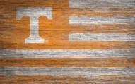 "Tennessee Volunteers 11"" x 19"" Distressed Flag Sign"