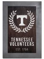 "Tennessee Volunteers 11"" x 19"" Laurel Wreath Framed Sign"