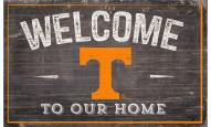"""Tennessee Volunteers 11"""" x 19"""" Welcome to Our Home Sign"""
