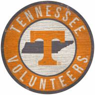 """Tennessee Volunteers 12"""" Circle with State Sign"""