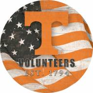 """Tennessee Volunteers 12"""" Team Color Flag Circle Sign"""