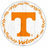 """Tennessee Volunteers 12"""" Welcome Circle Sign"""