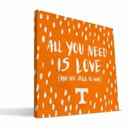 """Tennessee Volunteers 12"""" x 12"""" All You Need Canvas Print"""