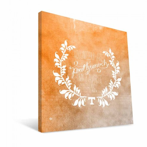 "Tennessee Volunteers 12"" x 12"" Favorite Thing Canvas Print"