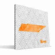 """Tennessee Volunteers 12"""" x 12"""" Home Canvas Print"""