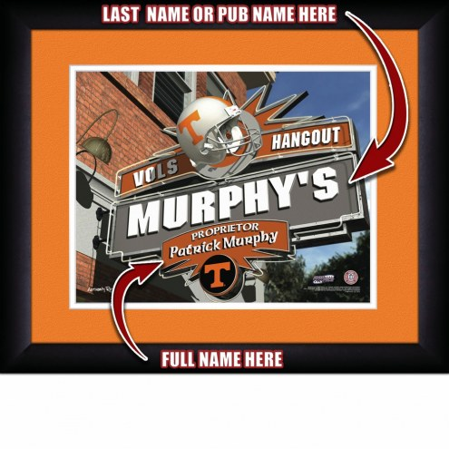Tennessee Volunteers 13 x 16 Personalized Framed Sports Pub Print