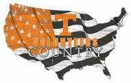 """Tennessee Volunteers 15"""" USA Flag Cutout Sign"""