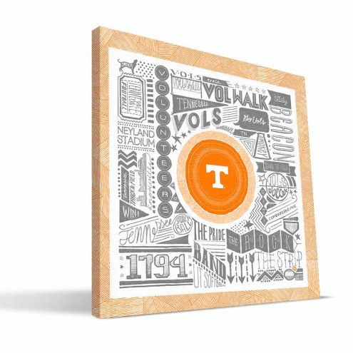 """Tennessee Volunteers 16"""" x 16"""" Pictograph Canvas Print"""