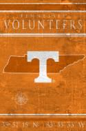 "Tennessee Volunteers 17"" x 26"" Coordinates Sign"