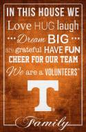 """Tennessee Volunteers 17"""" x 26"""" In This House Sign"""