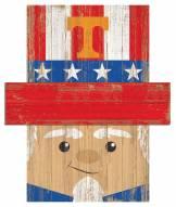 """Tennessee Volunteers 19"""" x 16"""" Patriotic Head"""